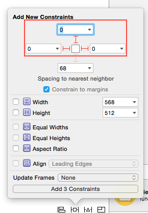 Auto Layout Keyboard Image View Constraints