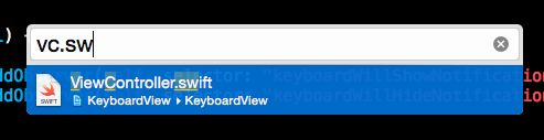 Xcode Open Quickly File Extension